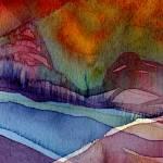 """""Peace Mountain I"" #46 02 22 07"" by achimkrasenbrinkart"