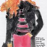 """Long Black Coat Short Pink Skirt"" by davidcornelius"