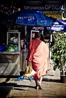 Buddhist Monk Shopping