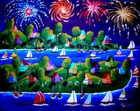 Fourth Of July Fireworks Fun Folk Art