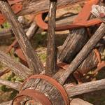 """Vintage Wagon Wheel: Color"" by PaulHuchton"