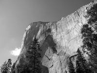 Imposing cliff face at Yosemite