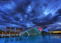City of Arts and Sciences under a dramatic sky II