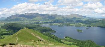 View North from Catbells in Summer