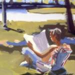 """Reading in Park"" by rogerwhite"