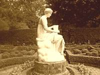 Bayou Bend Gardens - statue and manicured gardens