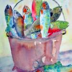 """jpg1 Afinekettle of fish (2)"" by windingwaywatercolors"