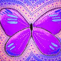 purple butterfly Art Prints & Posters by Stephanie Lee