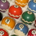 """zig zag pool balls"" by Sebree"