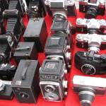 """Old skool cameras - Sofia bric-a-brac market"" by debbsview"