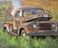 Old Ford '47 Pickup 'n Ruffed Grouse