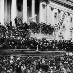 """Lincoln innaguration on steps of U.S. Capital"" by worldwidearchive"