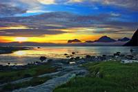 Midnight at Sandnes Lofoten Islands