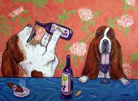Basset Hounds at the Wine Bar