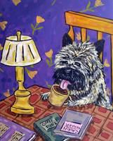 Cairn Terrier at the Coffee Shop