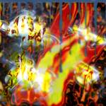 """flame extract colorfull blurred copy"" by jram36"