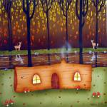 """Loghome  by Valerie Walsh"" by valgalart"
