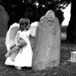 """Gabby cemetary angel16 01Jul04b&wbrdrlg"" by something4every1"
