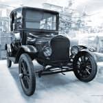 """Model-T Workshop1 in Blue"" by DocPixel"