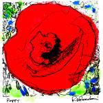 """Red Poppy By RD Riccoboni ™"" by RDRiccoboni"