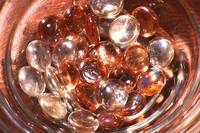 Glass bowl and pebbles 2