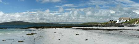 Berneray Hostel from Beach