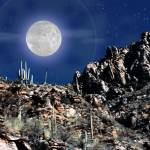 """Moon over Arizona"" by PhotoViewPlus"