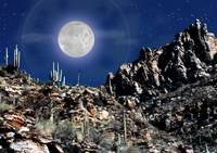 Moon over Arizona
