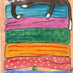 """Princess Kitty and The Pea"" by ChrisQIllustration"