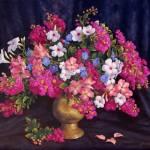"""""""Crepe Myrtle in Brass Vase"""" by StudioSinaloa"""