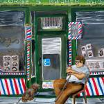 """""""Georges Barber Shop on a Afternoon!"""" by MitchellMcClenney"""