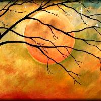 """HARVEST MOON"" by Peggy Garr"