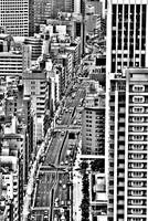 Streets of Tokyo in B&W