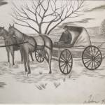 """HORSE AND CARRIAGE print"" by WeshonHornsby"