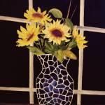"""sunflower vase print"" by WeshonHornsby"