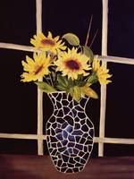 sunflower vase print