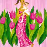 """""""Pink Tulips - A Mother and Daughter"""" by cocomasuda"""