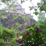 """View of Edinburg Castle from Gardens"" by Melissa-Widmaier"