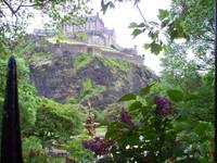View of Edinburg Castle from Gardens