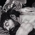 """""""Samson (detail of a Peter Paul Rubens painting)"""" by KeithKelly"""