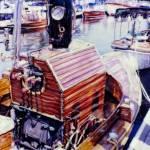 """""""Vintage Wooden Boat"""" by Schazel"""