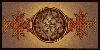 Celtic Knotwork Enamel