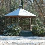"""gazebo in snow"" by bittersweetcottage"
