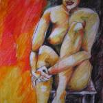 """NUDE ON CHAIR"" by Brischit"