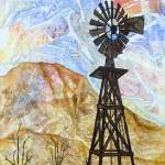 """325 Windmill with Ocotillo"" by FrankGonzalesArt"