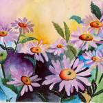 """Lazy Daisies Watercolor"" by marygaines"