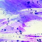 """Purple and blue abstract watercolor with white"" by rozine"