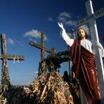 """In hoc signo vinces, Hill of the crosses, Lithuani"" by RaphaelBickPhotography"