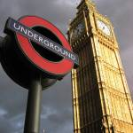 """Two landmarks - Big Ben and the tube, London, Grea"" by RaphaelBickPhotography"