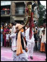 Pune Ganesh Festival Person Playing Tutari